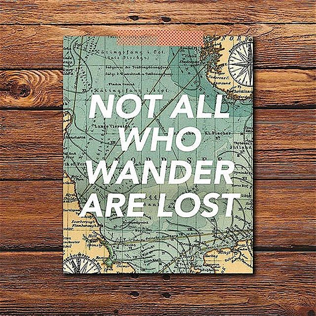 not all who wander are lost - 640×640
