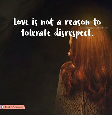 disrespect is not tolerated in the Home » 24 things you should never tolerate in a relationship 24 things you should never tolerate in a relationship by jessica klein posted in living on.
