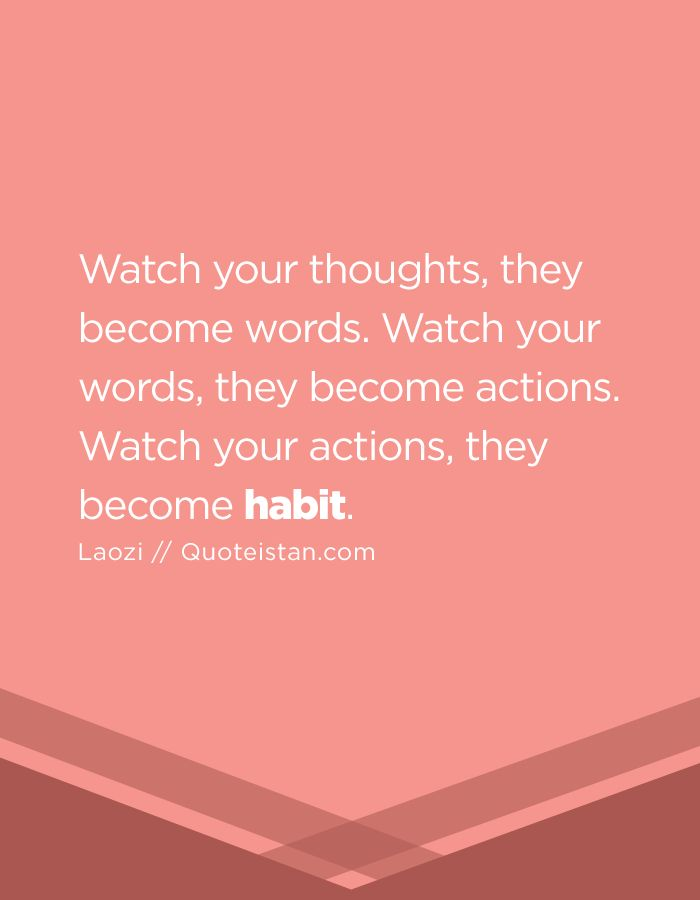 Motivational Quotes Watch Your Thoughts They Become Words Watch