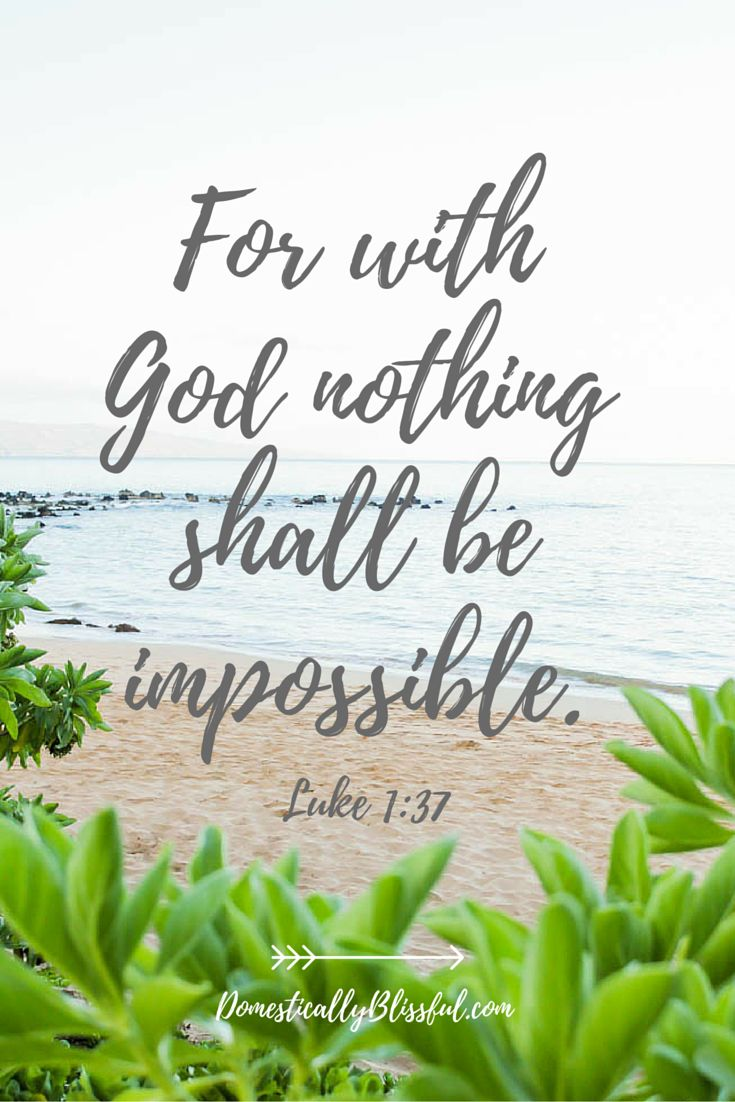 Spiritual Motivational Quotes Positive Quotes  For With God Nothing Shall Be Impossibleluke 1