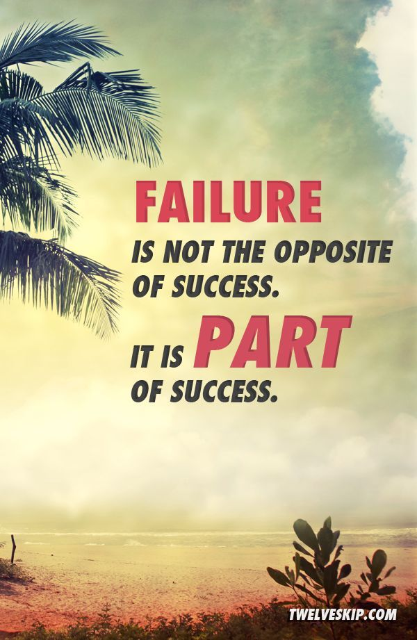 does failure inspire sucess Looking for an inspirational quote to use in your newsletter, business presentation, bulletin board or on inspirational posters these quotes about success are useful to help employee motivation, employee engagement, and inspiration to achieve great success at work.