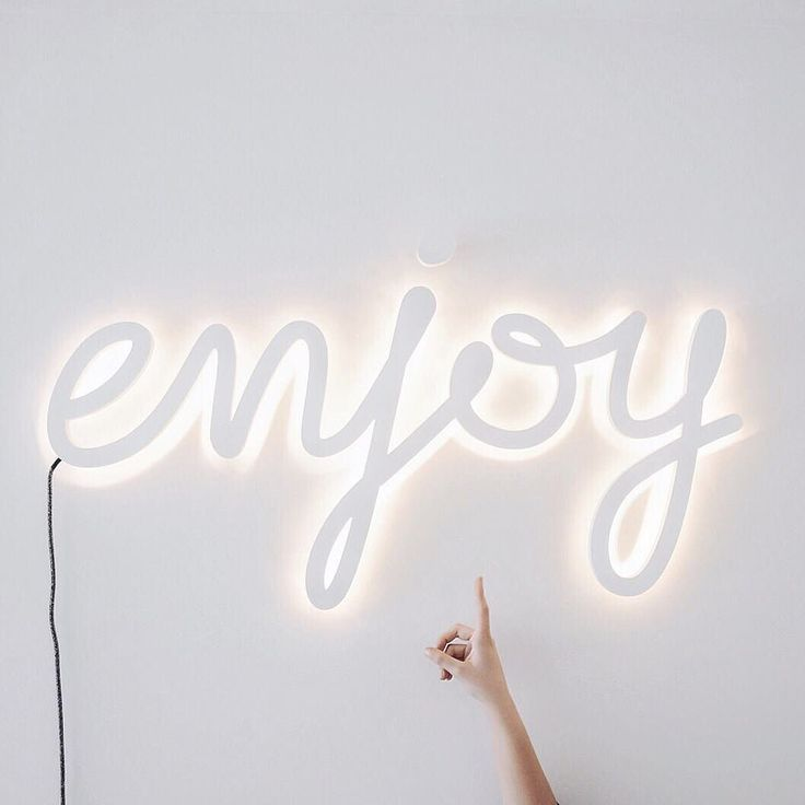 Quotes About Happiness Enjoy White Neon Sign You Only Have One