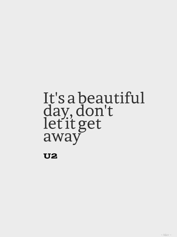 Positive Quotes U2 Beautiful Day Hall Of Quotes Your