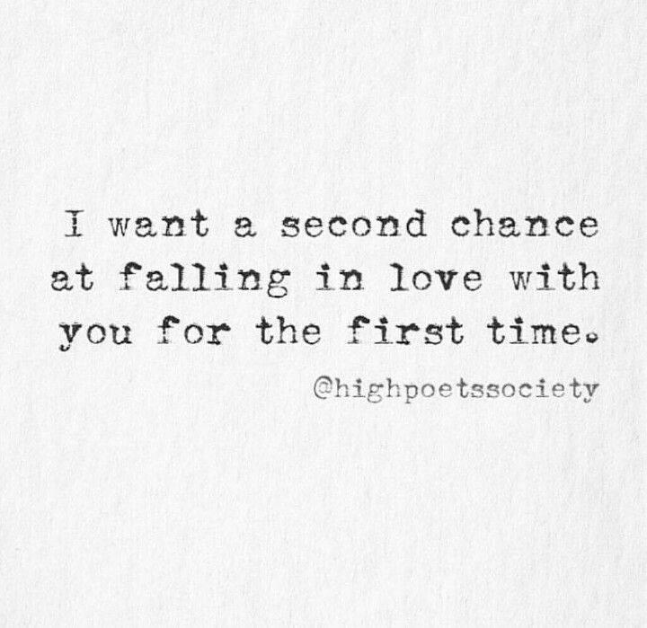 Do you believe in second chances in a relationship