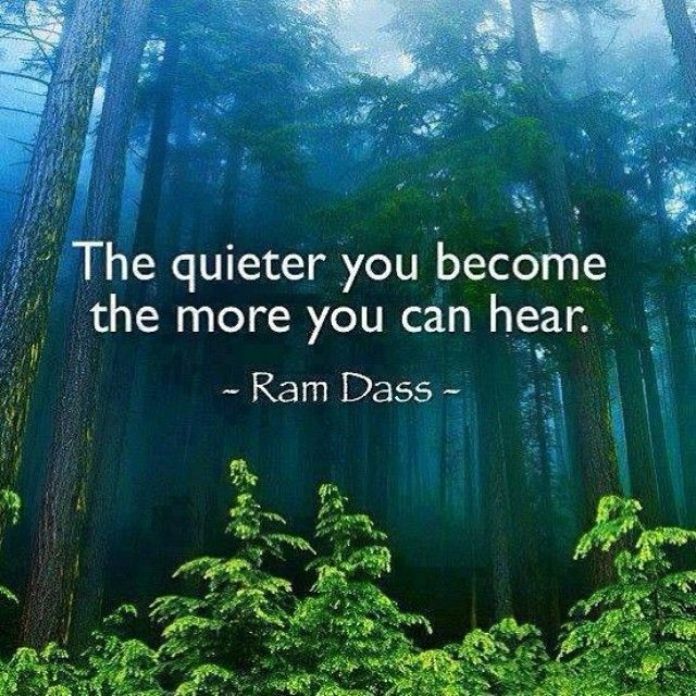Positive Quotes The Quieter You Become The More You Can Hear Ram