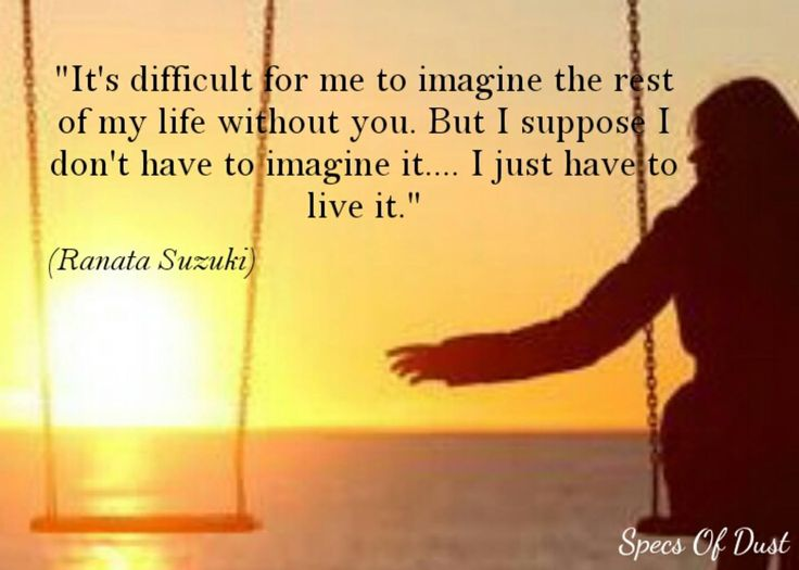 Love Quotes Its Difficult For Me To Imagine The Rest Of My Life