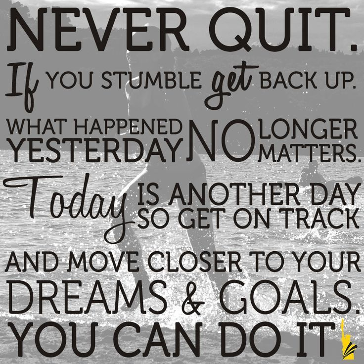 Motivation Quotes Never Quit If You Stumble Get Back Up What