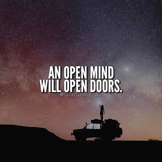 Positive Quotes  & Positive Quotes : An open mind will open doors.... - Hall Of Quotes ...