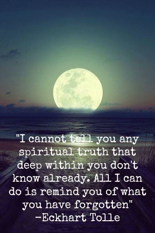 Positive Quotes I Cannot Tell You Any Spiritual Truth That Deep