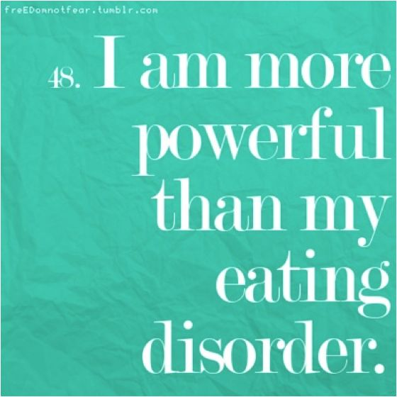 Motivation Quotes : Eating disorders truth, reality and lies