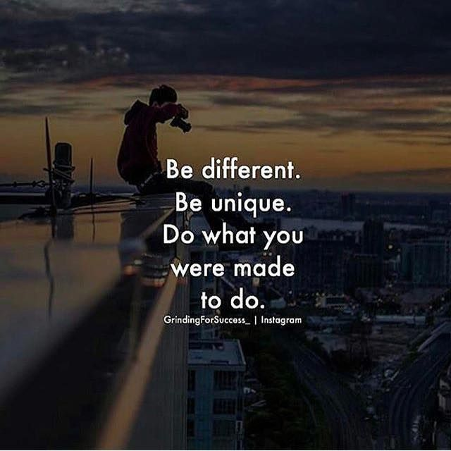 Positive Quotes Be Different Be Unique Hall Of Quotes Your
