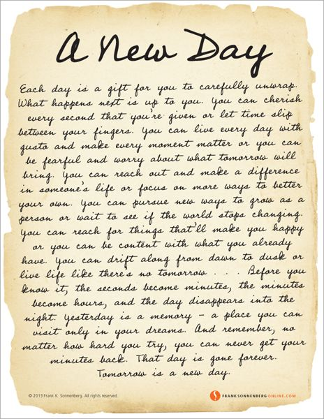 Motivational Quotes : A New Day | Values to Live By | www ...