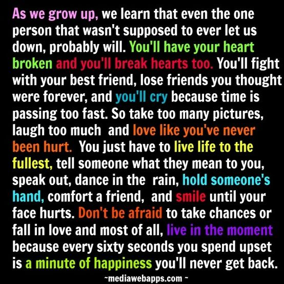 How to move on with your life