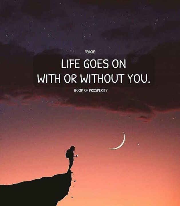 Positive Quotes Life Goes On With Or Without You Hall Of