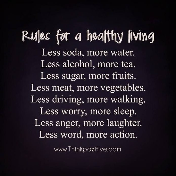Positive Quotes Rules For A Healthy Living