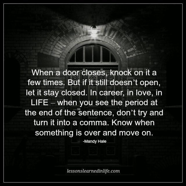 Positive Quotes Lessons Learned In Life When A Door Closes