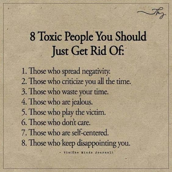 Positive Quotes : 8 Toxic People You Should Just Get Rid Of.. ift