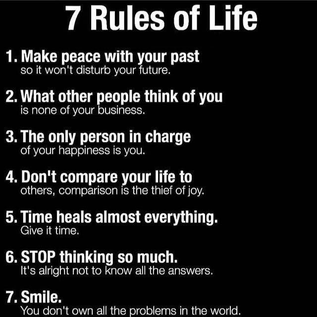 Positive Quotes 60 Rules Of Life Hall Of Quotes Your Daily Stunning 7 Rules Of Life Quote