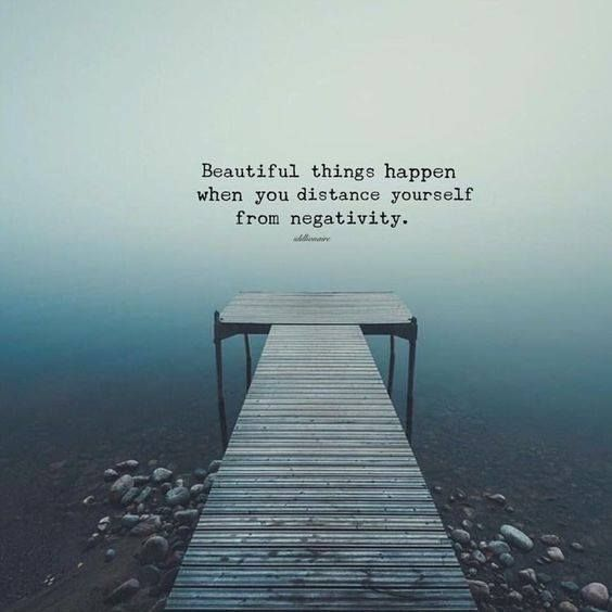 Positive Quotes : Beautiful things happen when you distance