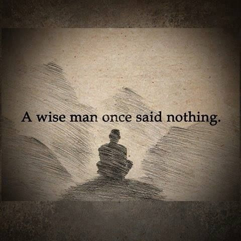 Positive Quotes A Wise Man Once Said Nothing Hall Of Quotes