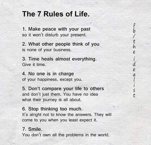 Positive Quotes The 60 Rules Of Life Hall Of Quotes Your Fascinating 7 Rules Of Life Quote