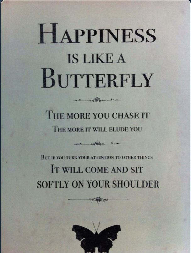Quotes About Happiness Happiness Is Like A Butterfly Just Let It