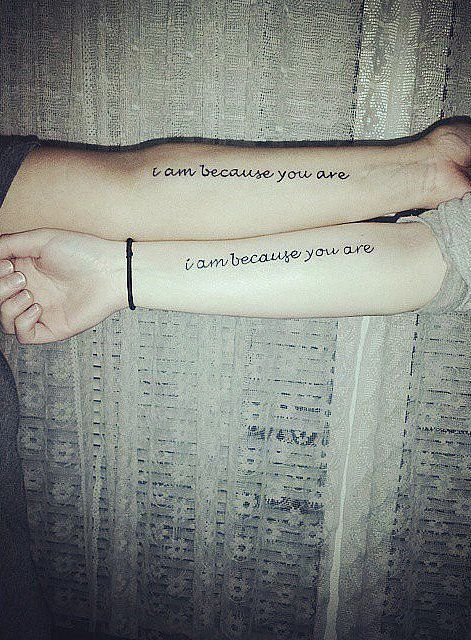 Quotes About Love Mother And Daughter Tattoo Ideas I Am Because