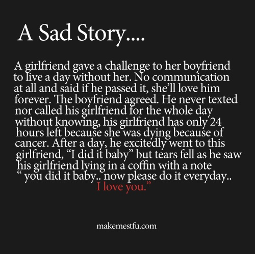 Quotes About Love : sad story..   Hall Of Quotes | Your daily