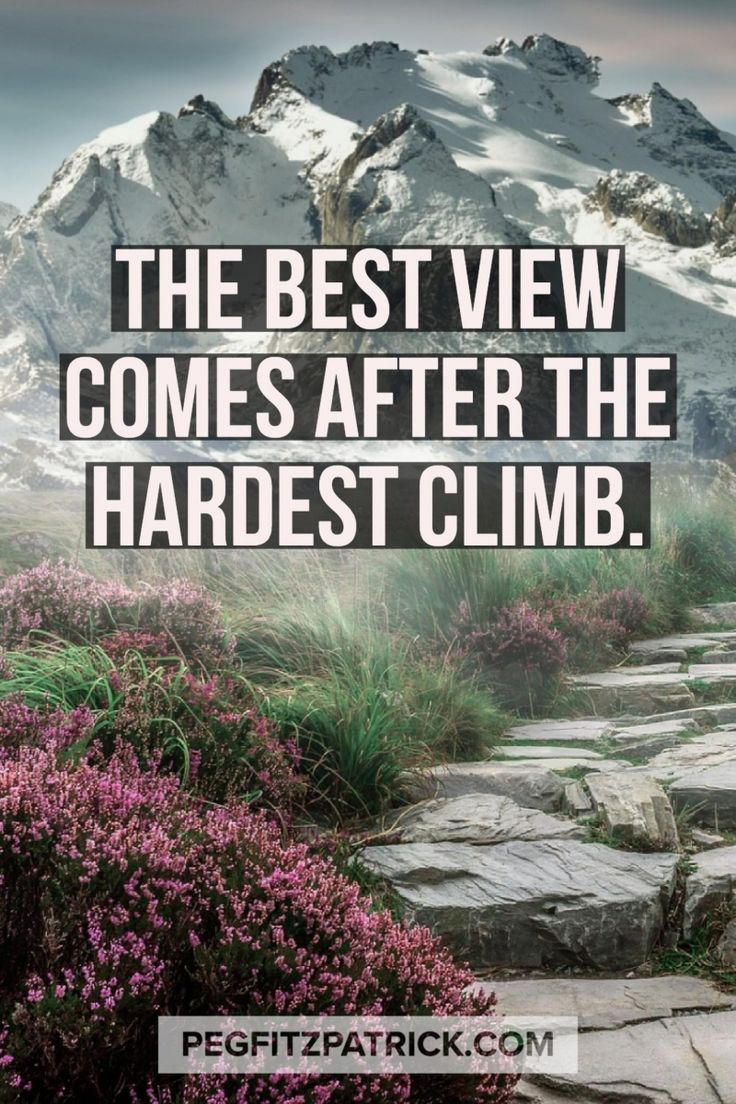 Quotes About Leadership : The best view comes after the hardest climb  Hall Of Quotes  Your