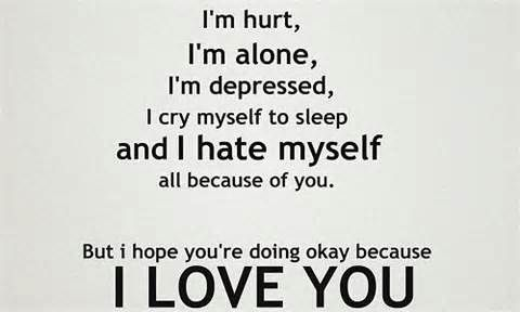 Breaking Up And Moving On Quotes Hurt Alone Crying My Self To