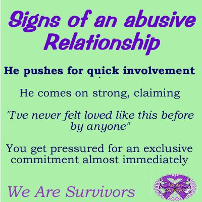 Early signs of an abusive relationship