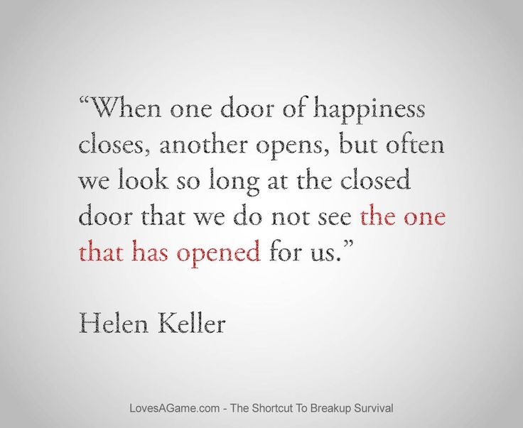 Breaking Up And Moving On Quotes Once That Door Closes Turn