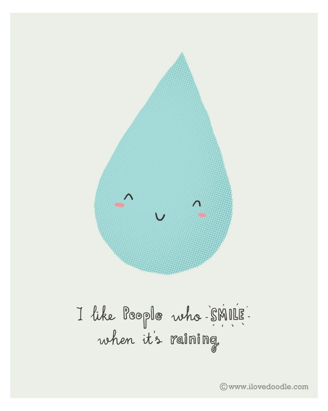 Doodle Everyday 2014/004: I Like People Who Smile When Itu0027s Raining By Lim  Henu2026