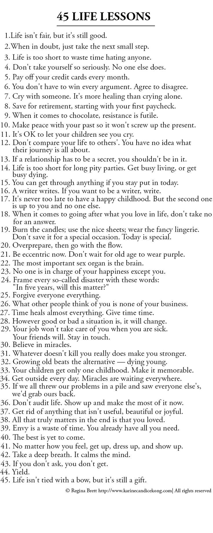 Positive Quotes : List of 45 Great life lessons to life by ...