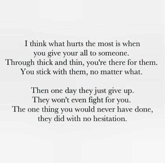 Breaking Up And Moving On Quotes You Never Fought For Me It Took