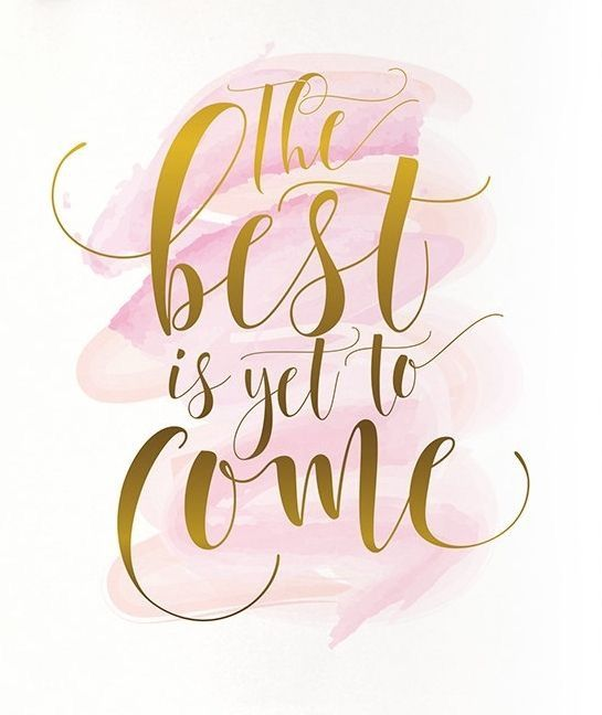 """Positive Quotes : Pink Watercolor with a Gold Quote """"The ..."""