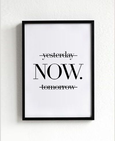 Motivational Quotes Now Poster Typography Art Wall Decor