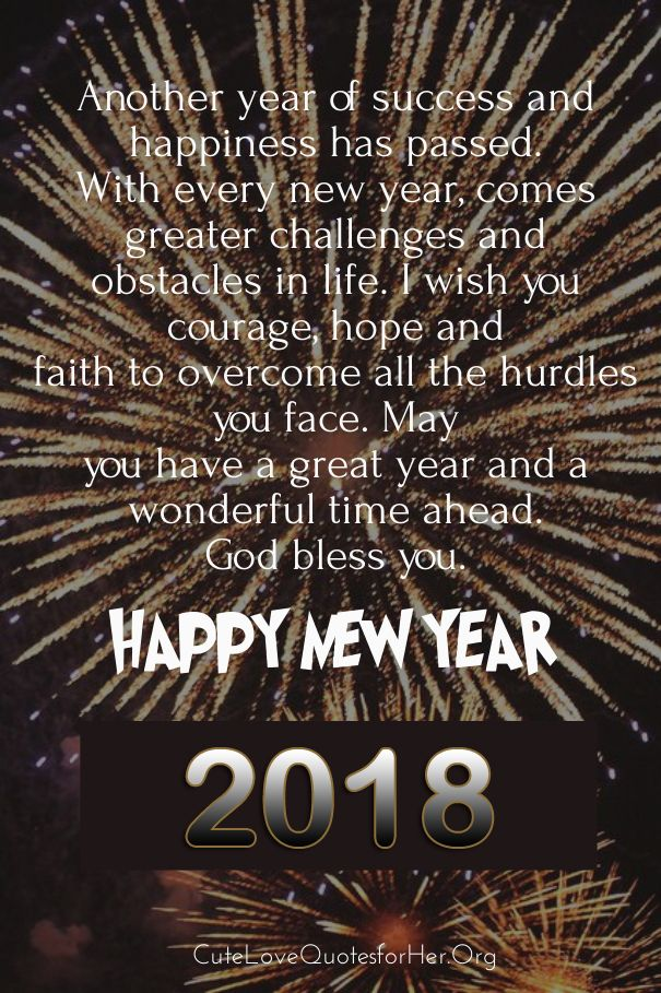 Quotes Of The Day U2013 Description. Happy New Year 2018 Quote Pic