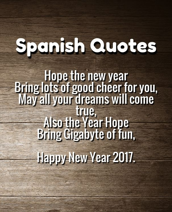 Happy New Year Quotes In Spanish 2017 Hall Of Quotes Your Daily