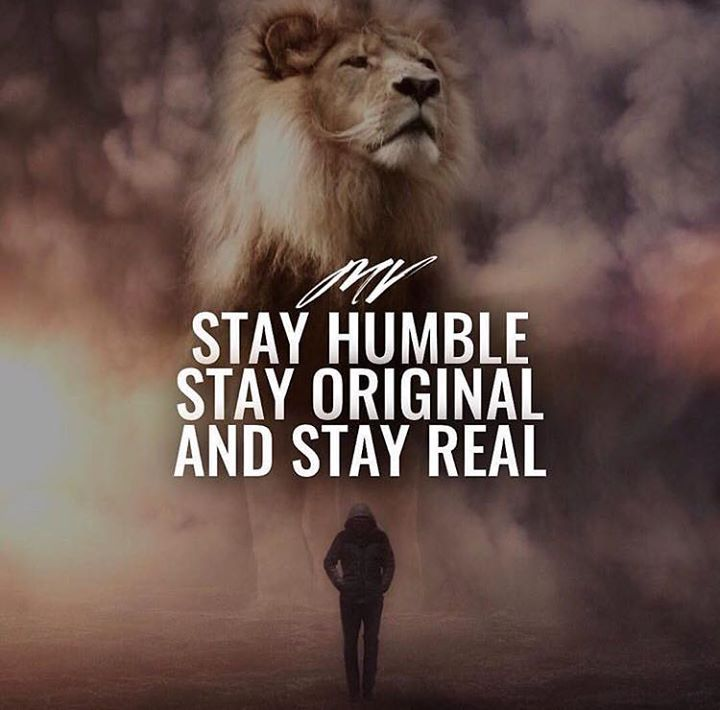 Positive Quotes : Stay humble stay original and stay real.   Hall
