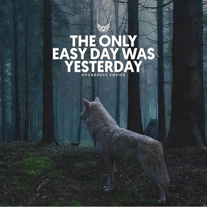 positive quotes   the only easy day was yesterday