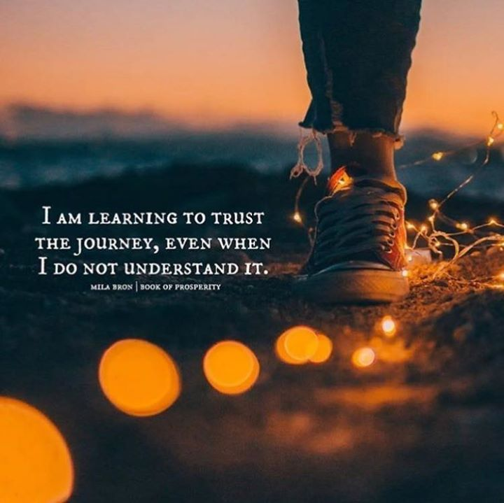 I Am Learning To Trust The Journey Hall Of Quotes Your Daily