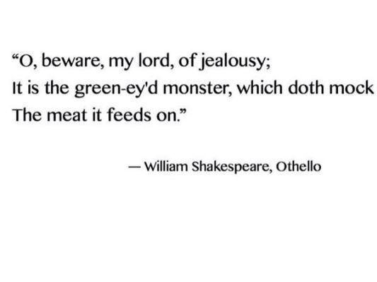 Jealousy Quotes: Jealousy QUOTATION