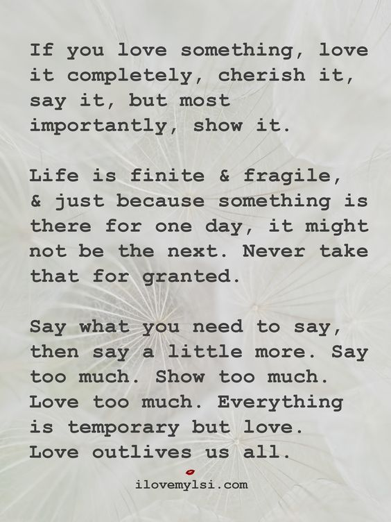 Love Quotes If You Love Something Love It Completely Cherish It
