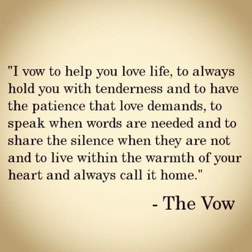 Love Quotes : Sweet Wedding Vows |  . Proposal. Love. / The Vow
