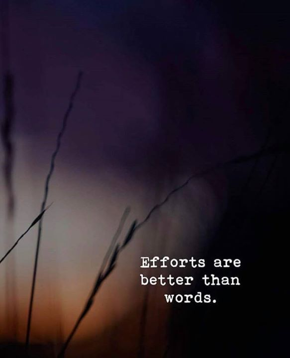 Positive Quotes Efforts Are Better Than Words Hall Of Quotes